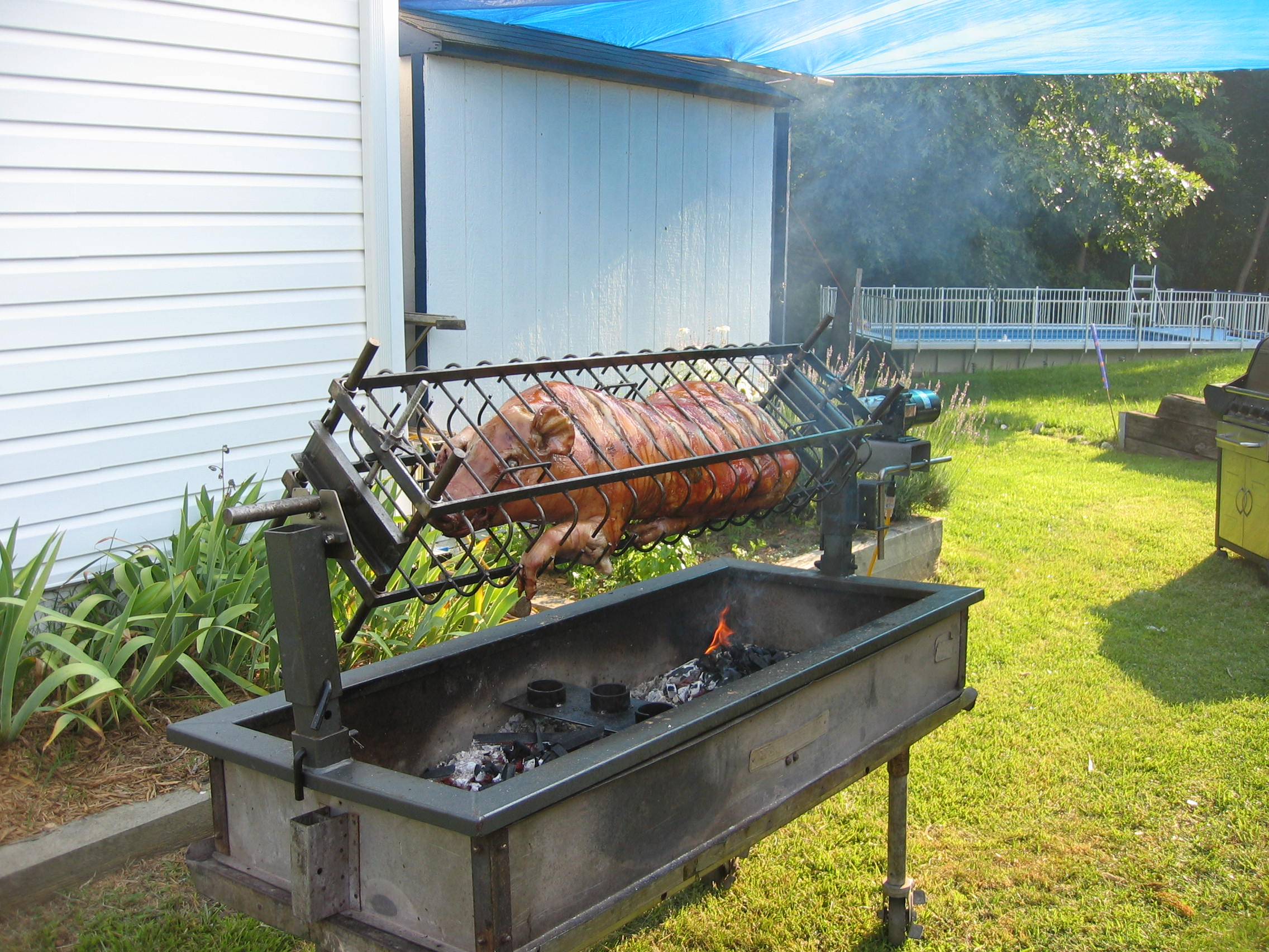 Roasting a whole lamb or young goat jiminmontana 39 s web log for Large garden equipment