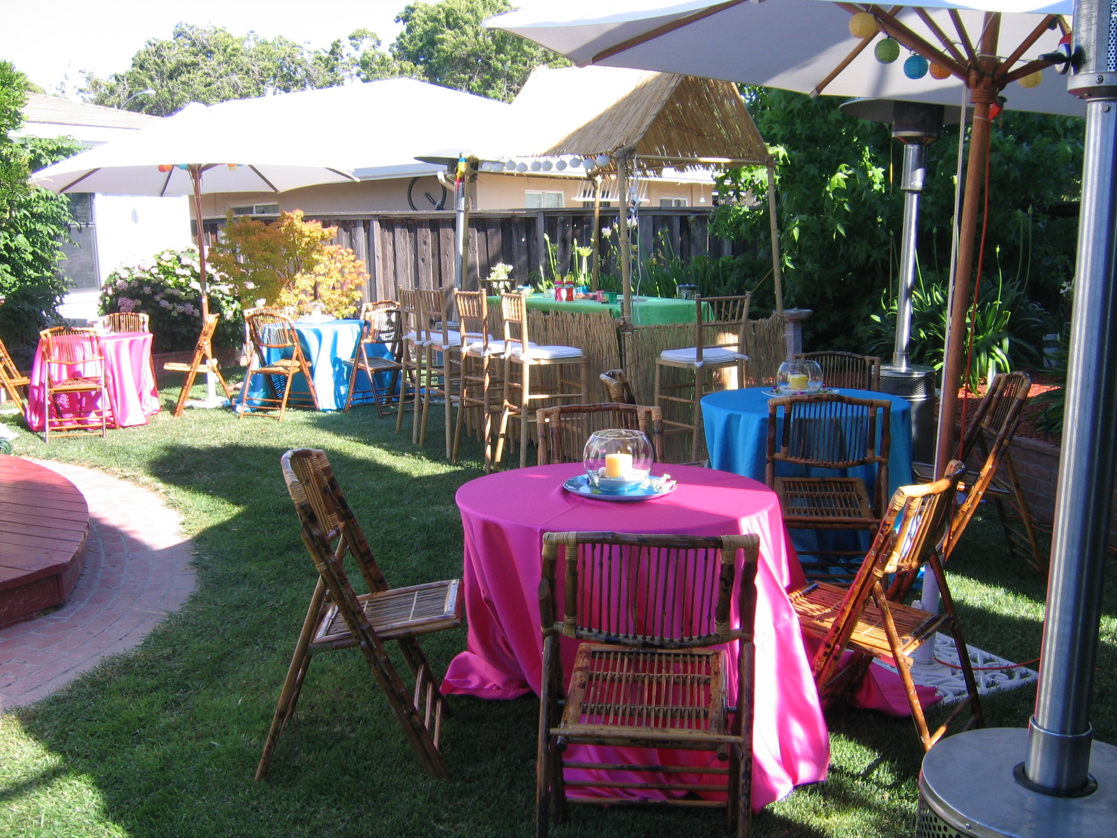 Luaus tropical party supplies rental maryland washington for Backyard ideas for adults