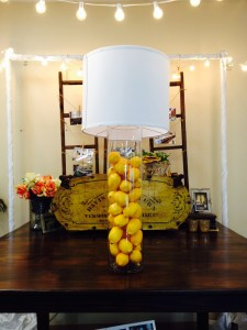 lemon centerpiece cylinder