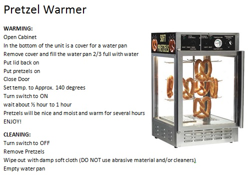 prezel warmer instructions pic