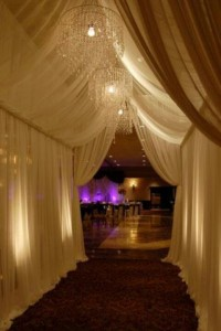 pipe and drape lighting