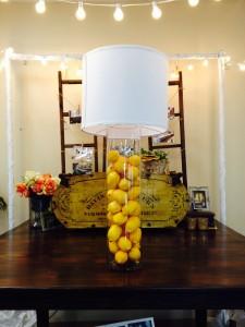 lemon centerpiece cylinder