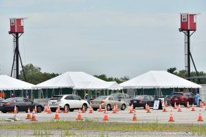 COVID testing tents